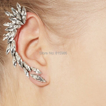 Wholesales 20pcs/lot New Fashion Statement Elegant Vintage Punk Gothic Crystal Rhinestone Ear Cuff Wrap Clip Earrings