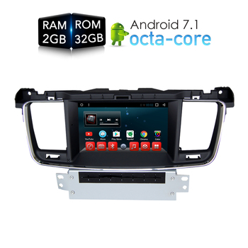 Android 7.1 Car DVD Player GPS Glonass Navigasyon Peugeot 508 için 2011 2012 2013 3G Bluetooth Radyo RDS Ses Video Stereo