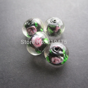 10Pcs 13mm*9mm Rondelle Lampwork glass beads Handmade Black Color  for jewelry making Wholesale and Retail