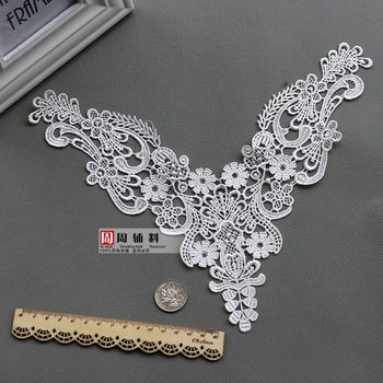 Soluble lace collar white collar false collar wedding dress sewing accessories handmade DIY accessories